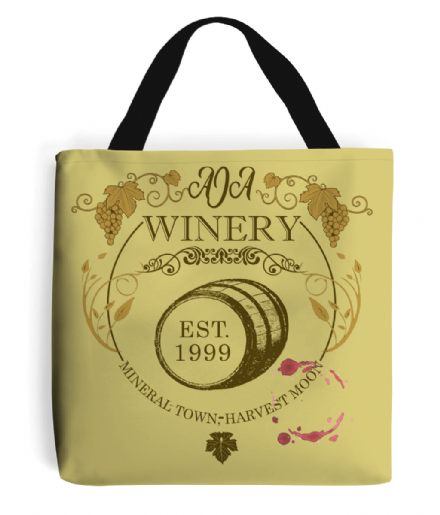 Harvest Moon Video Game Aja Winery Theme Tote Bag Shopping Handbag